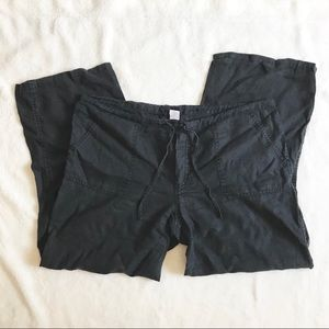 VTG London Jean Victoria's Secret Black Linen Pant
